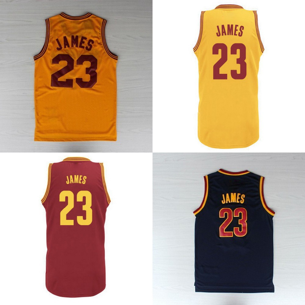 #23 LeBron James Jersey Red Yellow Blue New REV 30 ...