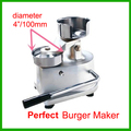 Бесплатная доставка 100 мм гамбургер пресс  гамбургер машина  машина для приготовления котлеты для гамбургера инструмент новый
