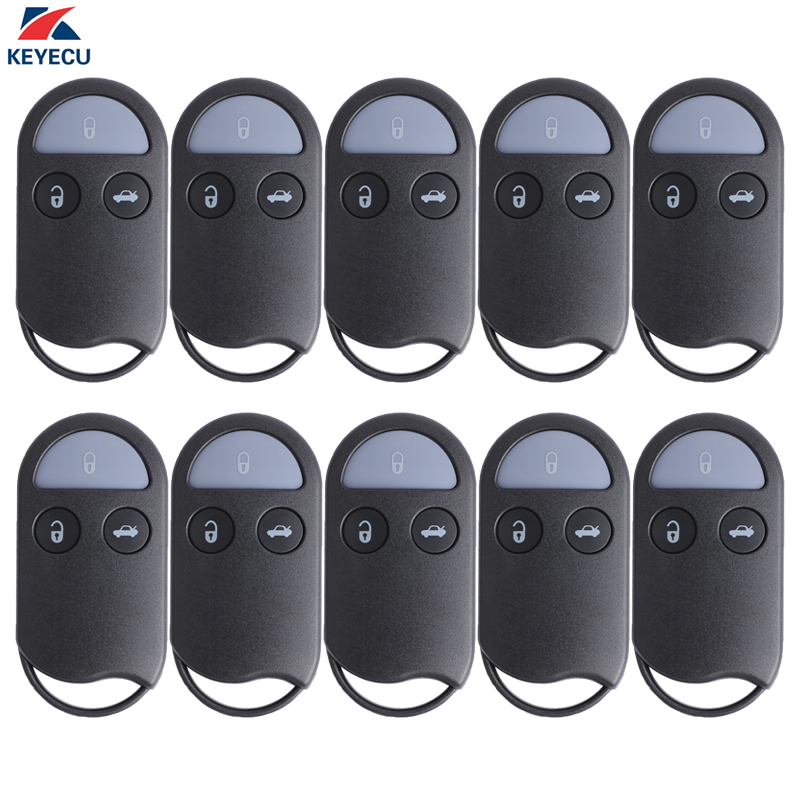 KEYECU 10X Replacement Remote key Shell Case Fob 3 Button for Nissan Maxima Pathfinder Quest 1999