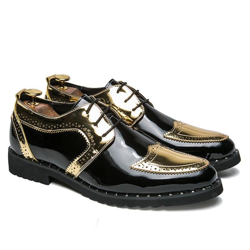 Hommes robe chaussures motif Floral hommes chaussures formelles en cuir de luxe mode marié mariage chaussures hommes Oxford chaussures robe 38-48