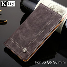 K'TRY Flip Leather Phone Cases For LG Q6 Case Wallet Pouch Style Card Slot Stand Cover For LG Q6 G6 mini