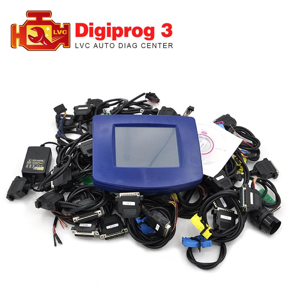 Prix pour 2017 Date Digiprog 3 V4.94 Kilométrique Programmeur Digiprog III ensemble complet obd adaptateurs kilométrage Correction outil digiprog3 DHL livraison
