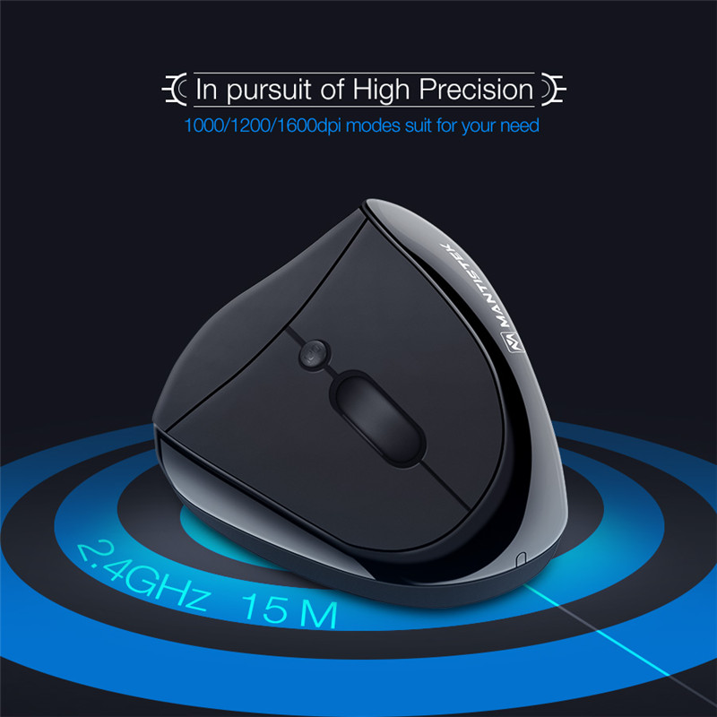 PC 2.4G Vertical Healthy Ergonomic Mouse Wireless Mouse Gamer Gaming Optical 6 Buttons 3 DPI 1000/1200/1600 DPI Mice For Laptop