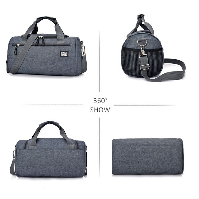 Scione Men Travel Sport Bags Light Luggage Business Cylinder Handbag Women Outdoor Duffel Weekend Crossbody Shoulder Bag Pack 3