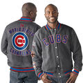 Chicago Cubs MENS 2016 World Series Champions Casual Loose long Sleeve Buttons Jacket Coat