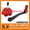 Aluminum Motorcycle Dirt Pit Bike Red-B Gear Shift Lever + Fuel Tank Cap Fit  KAYO XMOTOR PITPRO  Motorcross  Free Shipping!
