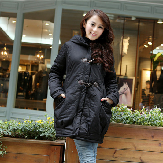 ФОТО Maternity Winter Coat! 2015 Solid Thicken Cloths For Pregnant Women Fashion Cotton Wadded Coat Women Parkas Maternity Coat H5716