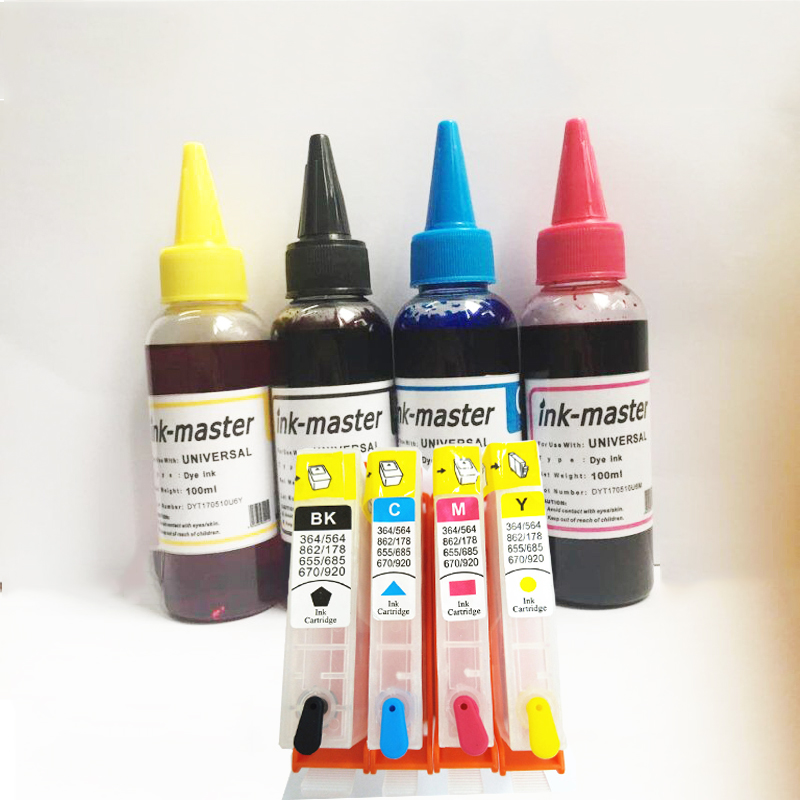 vilaxh 364xl Refillable Ink Cartridge Replacement For <font><b>HP</b></font> <font><b>364</b></font> xl Photosmart 5510 5511 5512 5514 5515 5520 5522 6510 6515 printer image