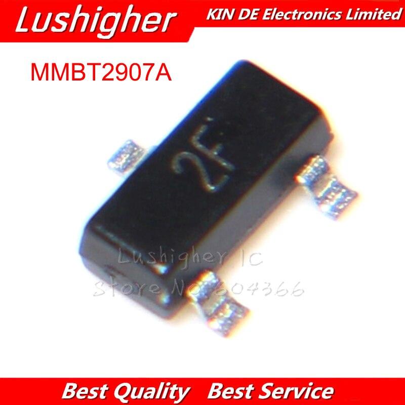 100PCS MMBT2907 SOT-23 MARKING: 2F MMBT2907ALT1G SOT23 Transistor 0.6A 40V PNP