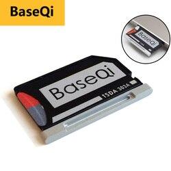 Original BaseQi Aluminum MiniDrive Micro SD Card Reader For Macbook Pro Retina 13'' compact flash adapter Memory Card Adapter