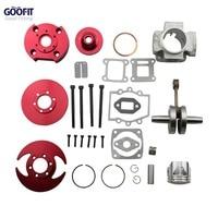 GOOFIT Red 44mm accessory Racing Big Bore 53cc 54cc Top Kit Piston 49cc 2-stroke Engine Pocket Bike Dirt ATV Motorcycle Group-5