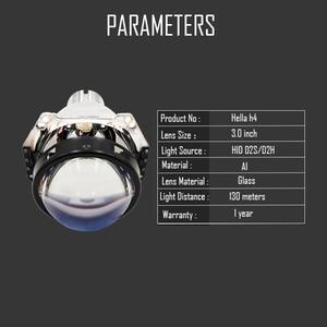 Image 4 - 3.0 inch H4 Hella 5 Bi xenon Projector lens Retrofit Car Headlight fit for D2S D2H xenon kit bulb car assembly headlamp modify