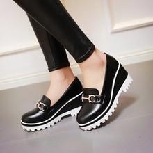 2016 black red new fashion Casual Ladies Shoes Women Sexy Footwear Fashion Lady Female Platform wedges heel Sale Size 34-43