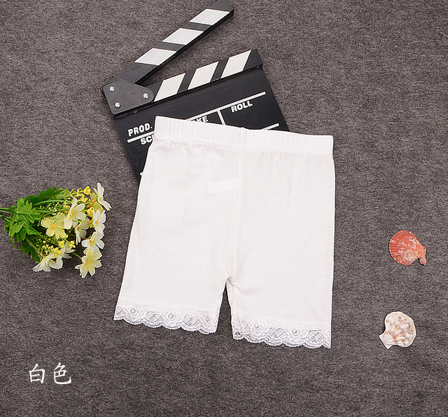 kids 2018 new child safety bottoming pants comfortable modal lace fake imitation children underwear 2 4 6 8 10 years old
