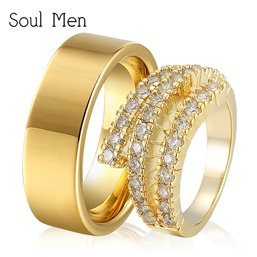 rings solid ring zoom fullxfull listing set il gold wedding flat couples