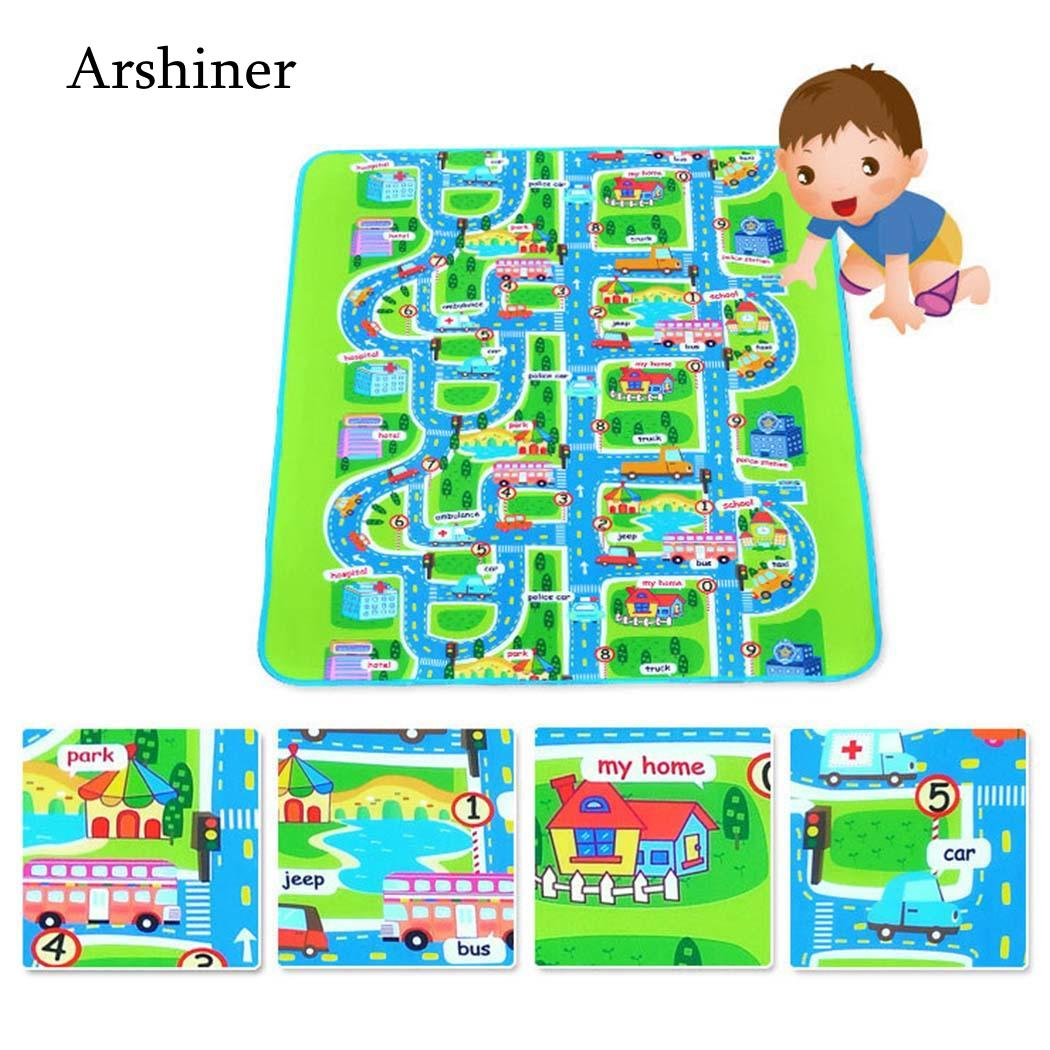 Activity & Gear 130cm Baby Toys Traffic Map Play Mat Floor Early Education Toddler Crawling Mat Safety Kids Climbing Blanket 160