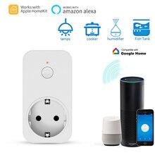 Timethinker Смарт Wi Fi Разъем для Apple Homekit AU США ЕС Великобритания Plug работать ALexa Google дома приложение Сири, голосовой дистанционное управление Outlet