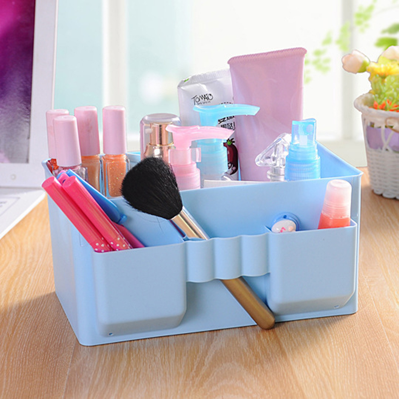 Makeup Storage Box For Organizer Cosmetics Pencil Brush Cute Multi-function Washing Box Container Desktop Storage Assembly