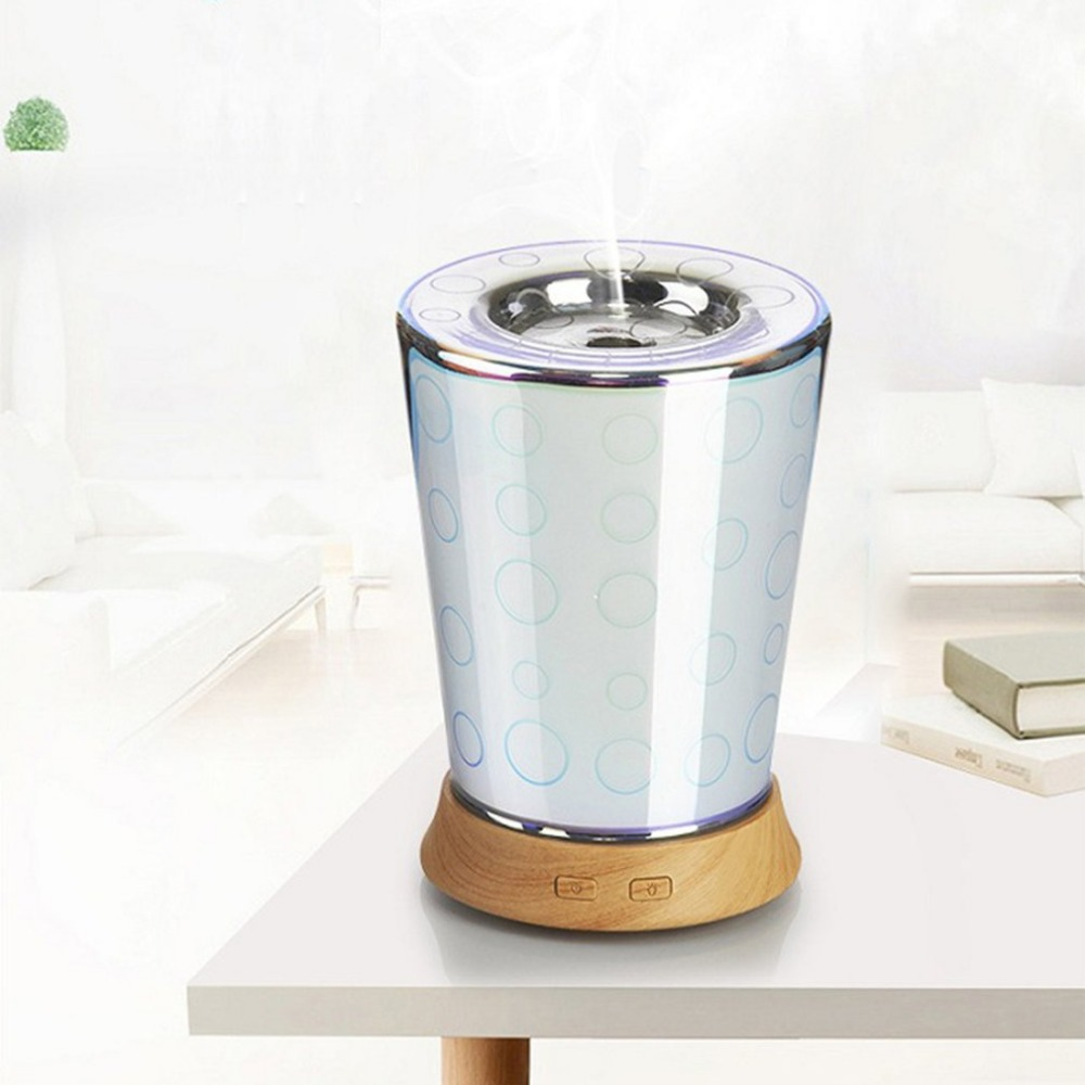 100ML 3D Effect Circle Pattern Glass Light Essential Oil Aroma Diffuser Home Office SPA Ultrasonic Humidifier Aromatherapy hot sale humidifier aromatherapy essential oil 100 240v 100ml water capacity 20 30 square meters ultrasonic 12w 13 13 9 5cm