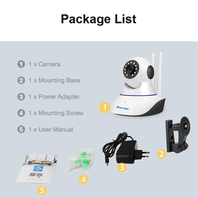 Techage 1080P 720P Wireless IP Camera Night Vision Baby Monitor Home Security 2MP 2-Way Audio Record CCTV Wifi Camera Yoosee APP 1