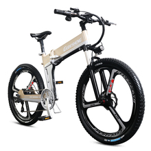 Electric mountain bi  26 folding ebike 48v lithium-ion battery 500W high speed strong motor bike ABS brake smart bicycle
