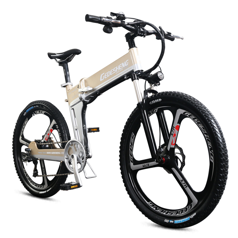 Electric mountain bike 26 folding ebike 48v lithium ion battery 500W high font b speed b