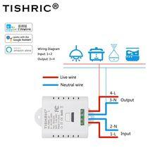 TISHRIC eWelink умный включатель светодиодной лампочки Wifi Пульт дистанционного управления таймер умный дом автоматизация Google Home Alexa 10A/16A 220 V