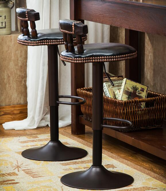 Elevating Stool. Bar Stool. Solid Wood Back Stool. Chair.008