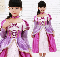 Free Shipping Party Costume Halloween Carnival Costume For Kids S/M/L/XL Rapunzel Luxury Christmas Costume Wholesale/Retails New