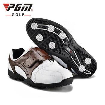 2020 PGM Mens Skid Resistant Golf Shoes Waterproof Hook Loop Shoes Man Professional Lightweight Breathable Golf Shoes #B1337