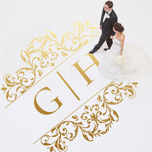 Personalized Dancing Floor Vinyl Sticker Wedding Decoration Birthday Party Decor DIY Free Shipping WD42