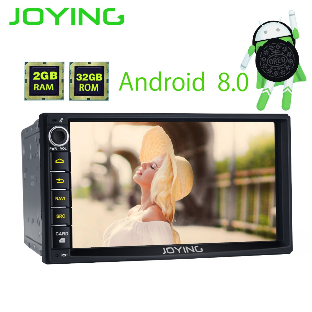 7 Joying 2G+32G Android 8.0 Universal Car Audio Stereo GPS Navigation Double 2 Din Head Unit Multimedia Player Support Carplay