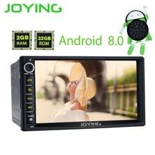 7 «радуясь 2 г + 32 г Android 8,0 Универсальный аудио стерео gps навигации двойной 2 Din голову блок мультимедийный плеер Поддержка Carplay