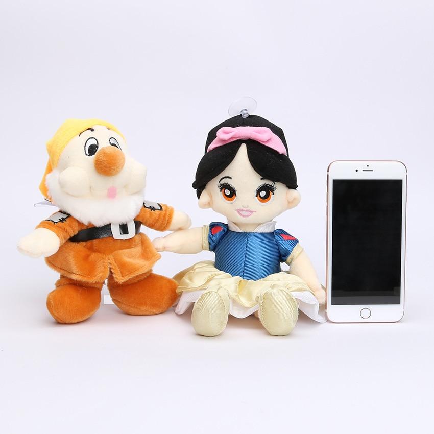 """送料無料8ピース/セット20センチを白雪姫プリンセスと8 """"七人の小人ソフトぬいぐるみ人形のおもちゃセット用誕生日ギフト  グループ上の おもちゃ & ホビー からの ぬいぐるみ & フラシ天 動物 の中 3"""