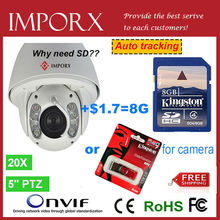 Cctv camera Auto Tracking PTZ FULL HD 960P IP Camera with 8G SD 20x Zooms Free shipping vai DHL