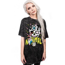 2017 Summer Women's Clothing Tops Tees Fashion skull Digital print movement  Long T-Shirts