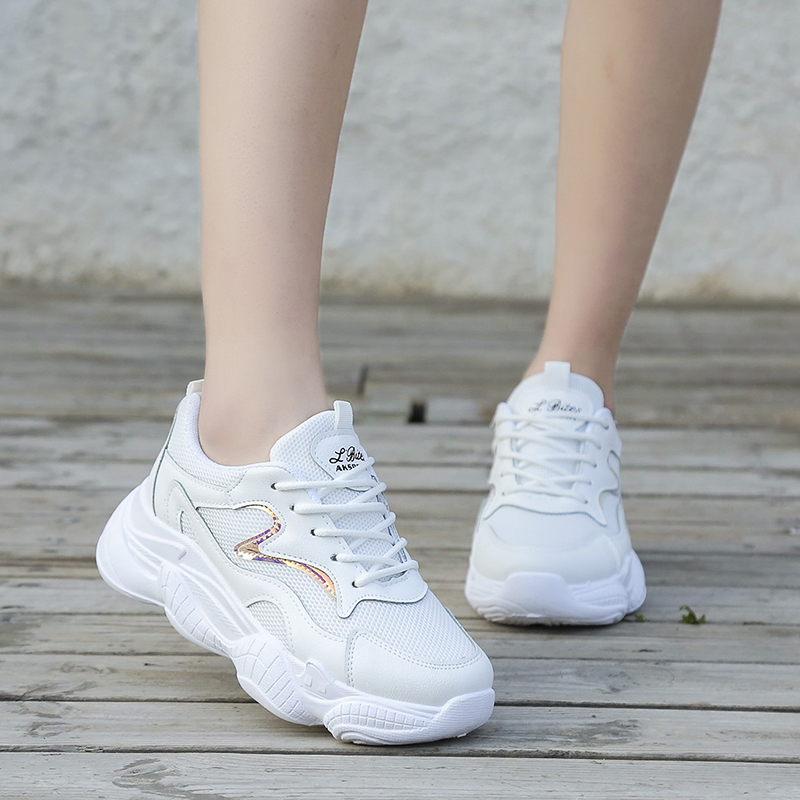 Casual Shoes Women Chunky Sneakers Fashion Dad Shoes for Women 2019 Spring Autumn White Shoes Chunky Sneaker Vulcanize Shoes in Women 39 s Vulcanize Shoes from Shoes