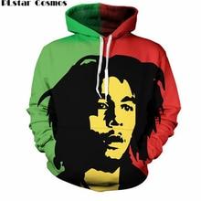 Plstar Космос карман шнурок тонкий Толстовки Для мужчин/Для женщин 3D толстовки Reggae Звезда Боба Марли печати Повседневная Толстовка Пуловеры для женщин S-5XL