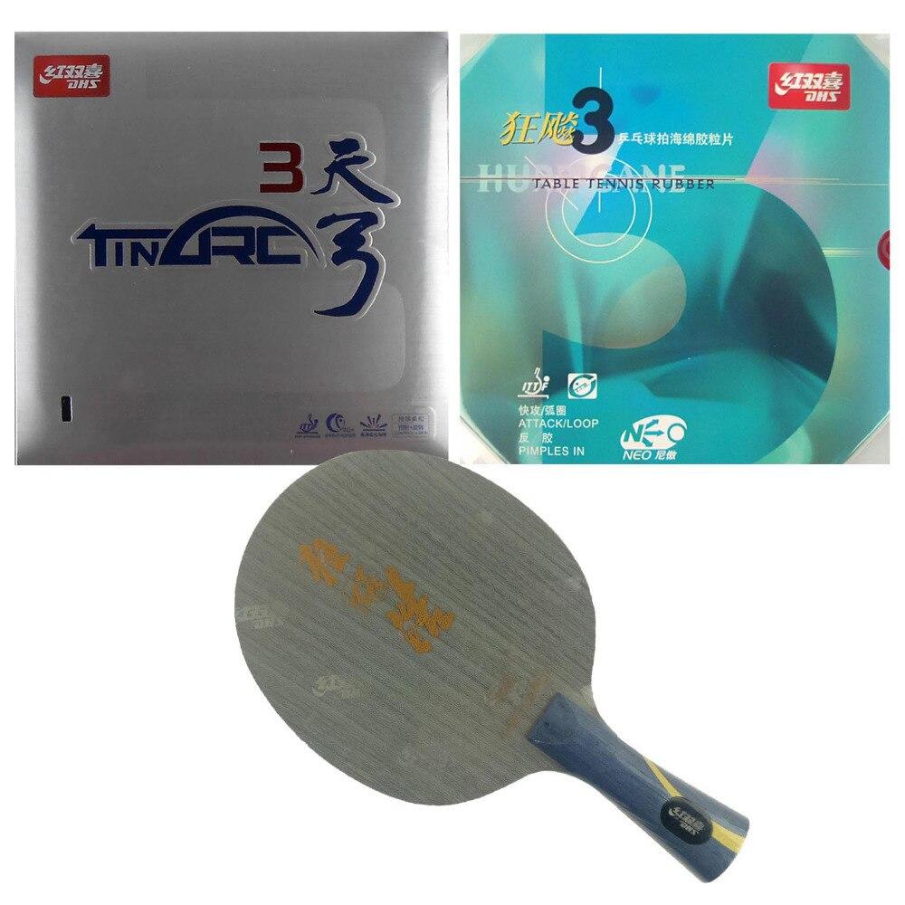 Профессиональная комбинированная ракетка для настольного тенниса PingPong Hurricane Hao и NEO Hurricane3 и TinArc3 2015 новый список длинная ракетка