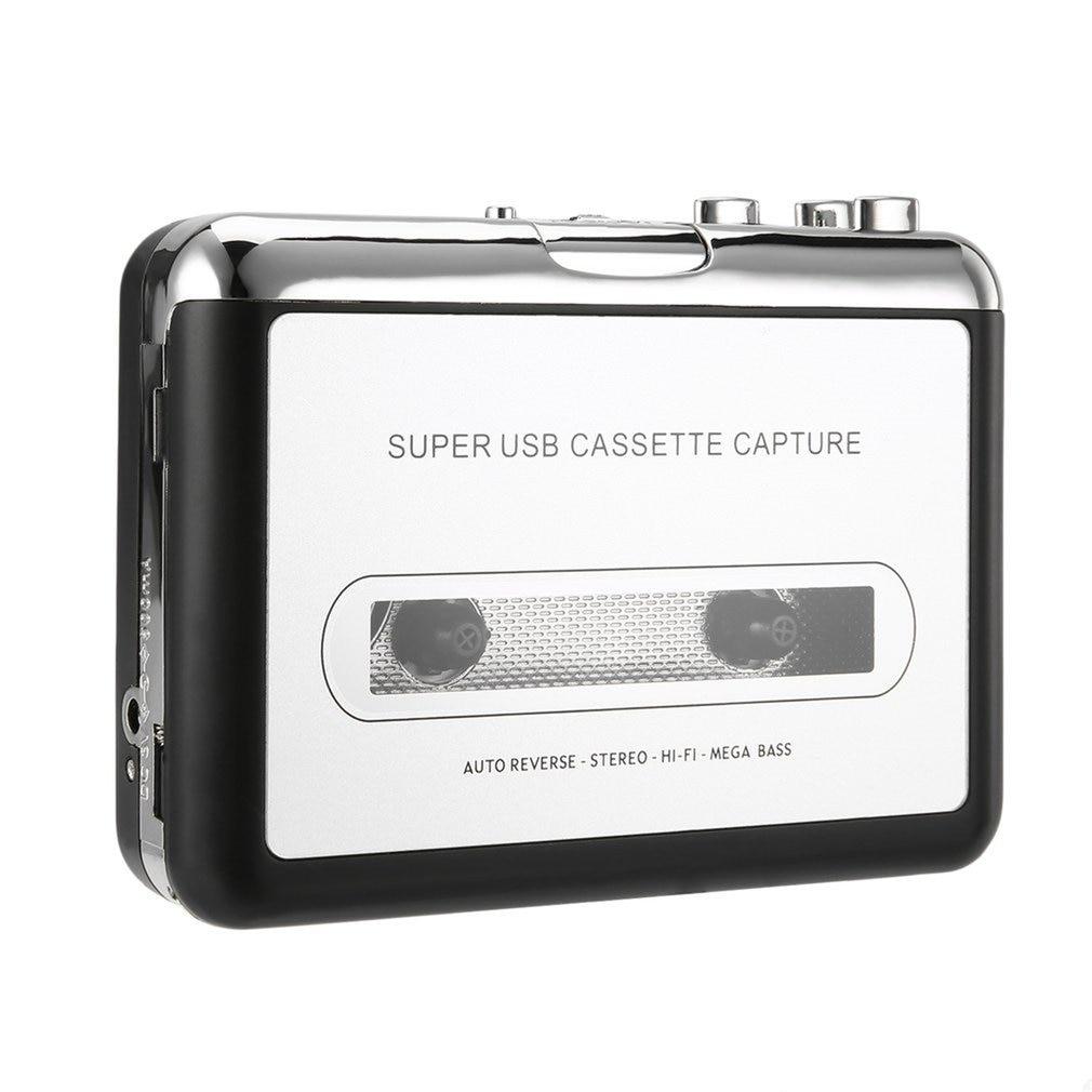 USB Walkman Cassette Player MP3 Portable Audio Cassette Player Capture Cassette Recorder Converter Digital Audio Music Player