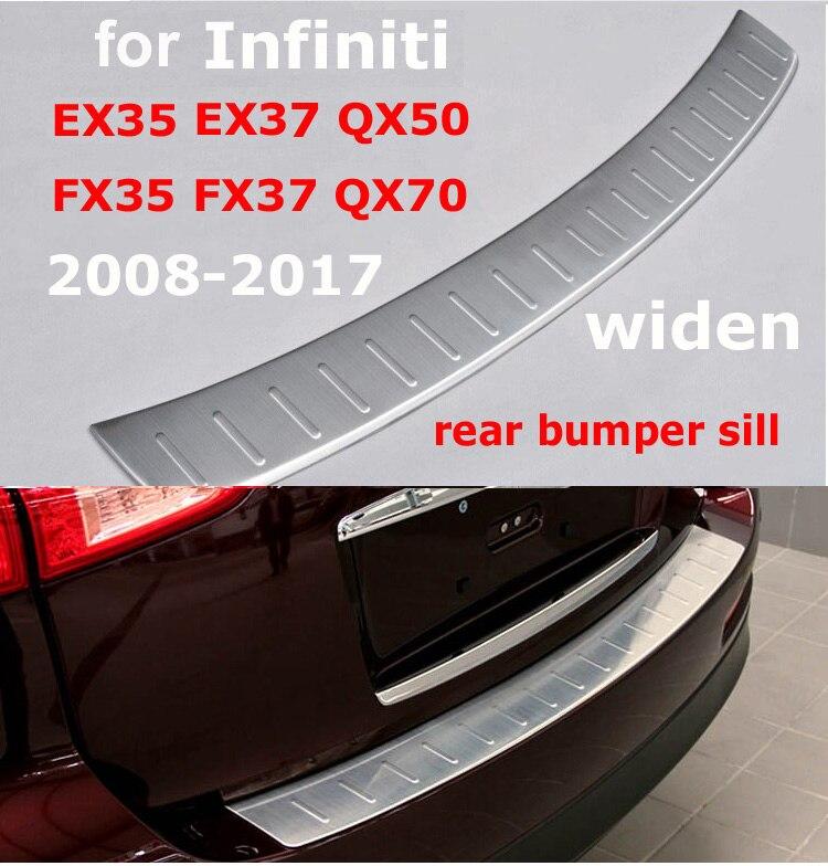 Für INFINITI QX QX70 QX50 EX EX35 EX37 FX35 FX37 heckschürze schutz, stamm tür-schwellen-verschleiss-platte, 5 jahre qualität lieferant