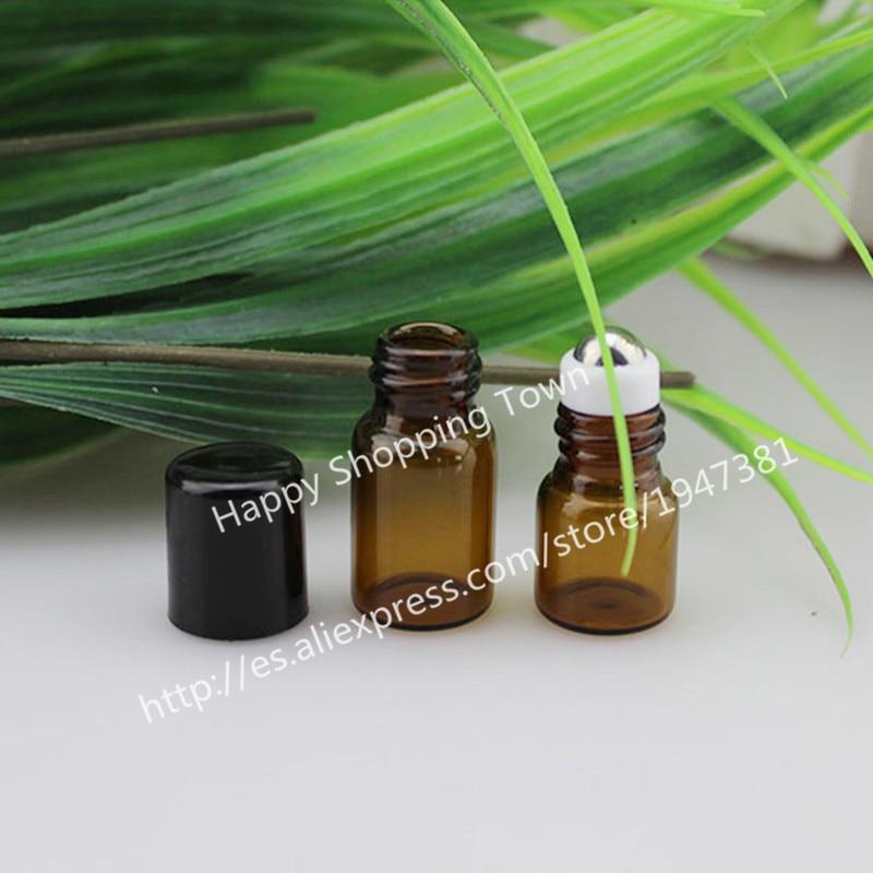 Free Shipping 500pcs 2ml Slim Amber Tube Glass Roll-On Fragrance Perfume Bottles,Refillable & Portable Perfume Roll On Bottle