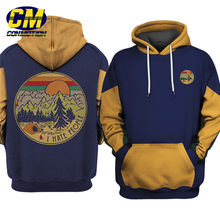 Cool Patchwork 3D hoodie camping เสื้อกันหนาวหมีสนุก pullover(China)