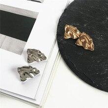 Irregular geometric metal earrings personality female hip hop street snap tide fashion Exquisite earring