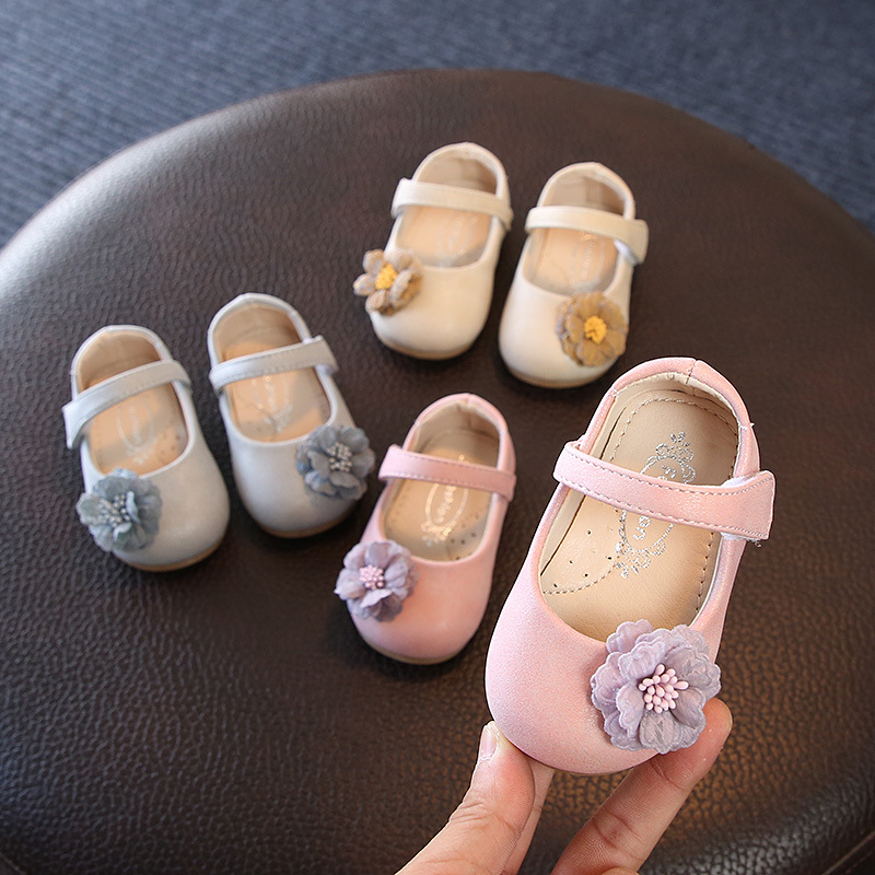 Comfortable Soft Bottom Baby Shoes 2018 Autumn New Fashion Sunflower Girls Single Shoes Princess Shoes