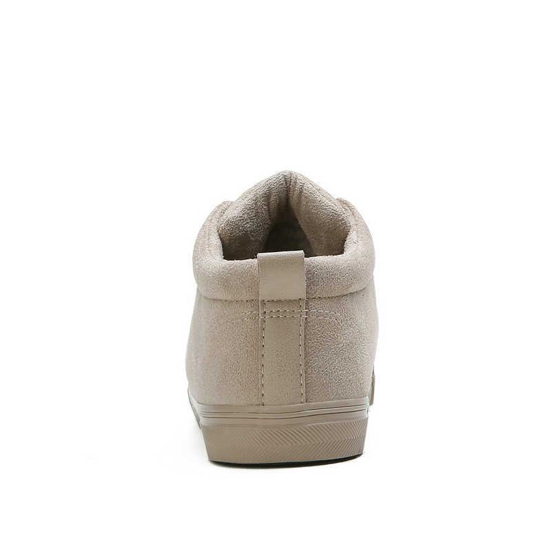 Kadın Botları Kar Sıcak Kış Sneakers Akın Çizmeler Lace Up Kürk yarım çizmeler Bayanlar Kış Ayakkabı Siyah