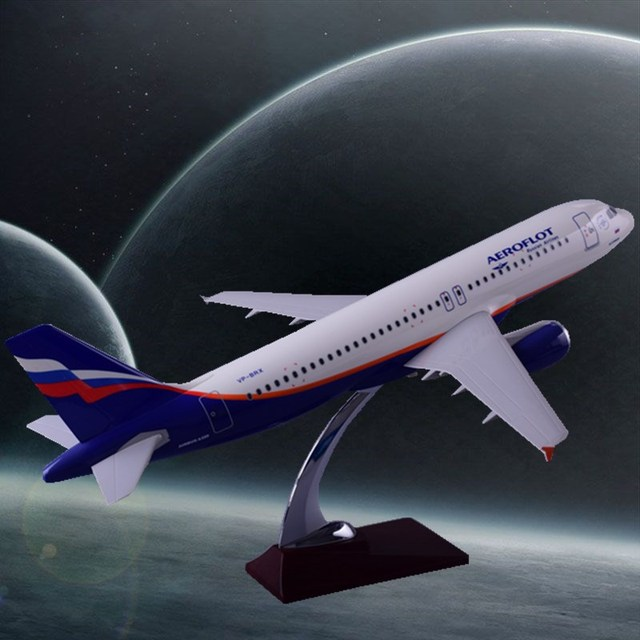 47cm Resin Russia Airlines Airbus Model A320 Aircrafts Aeroflot Airways Airplane Model International Aviation Stand Craft Gift