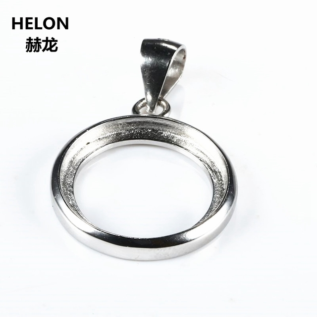 925 sterling silver semi mount pendant 20x20mm 15x15mm 14x14mm 925 sterling silver semi mount pendant 20x20mm 15x15mm 14x14mm 19x19mm round cabochon fine jewelry setting wholesale mozeypictures Image collections