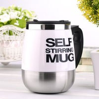 New Arrival 450ml High Quality Stainless Steel Self Stirring Mug Auto Mixing Drink Tea Coffee Cup