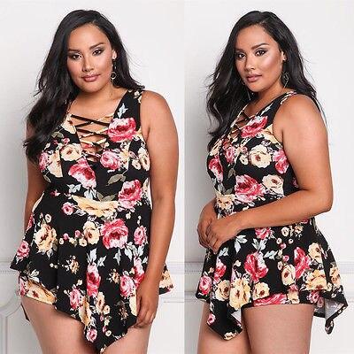 Swimwear Plus Size Bikini Swimsuit Women 2017 Floral Swim Suit Dress